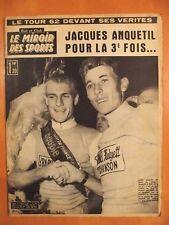 Miroir des Sports 920 du 16/7/1962-Jacques Anquetil & Rudi Altig,l'adieu au Tour