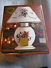 Brand New Lenox Winter Greetings Candle Lamp