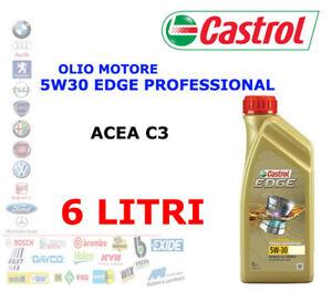 6 LT OLIO MOTORE CASTROL EDGE PROFESSIONAL LL  LL04 5W-30 Acea C3 BMW VW AUDI