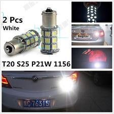 White 18 SMD LED Car Back Up Reverse Indicator Tail Light Bulbs Lamp BA15S S25