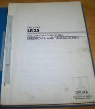 Okuma Lr25 Operation & Maintenance Manual Osp5000L-G