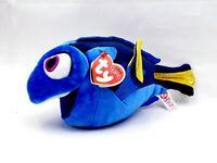 "TY Sparkle Disney Finding Dory Blue Fish Beanie Plush 9½"" Stuffed Animal Nemo"