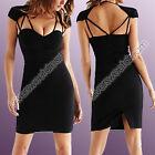 Vestido Mujer Elegante Atractivo Noche Escisión Escote Corazón Mini Parcela En