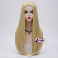Lolita Women 65 CM Long Wavy Light Blonde Hair Celebrity Party Anime Cosplay Wig