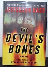 "DOUBLE SIGNED ""The Devil's Bones"" by Jefferson Bass New 1st Ed/Pr HC/DJ UnreadB3"