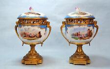 Paar Deckelvasen mit Kauffahrtei Szenen - Meissen, 1818 - 1850