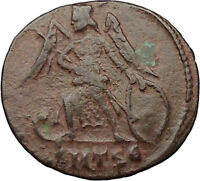 Constantine the Great  Founds CONSTANTINOPLE Ancient Roman Coin Victory i31713
