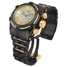 Reloj de Pulsera Invicta 12731 Para Hombre Bolt Zeus Negro Dial Dorado Crono Acero chapado ionizado