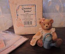 Cherished Teddies Planting The Seed of Friendship June Bear Figurine 914800 New