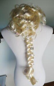 Dress Up girl's costume wigs, braids, crowns, DISNEY STORE Elsa, Rapunzel, Anna