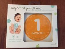 New Tiny Ideas Baby's First Year Growth Stickers, Unisex, Orange 12-Pack