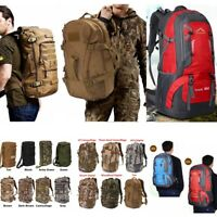 40/50/60L Molle Outdoor Military Tactical Bag Camping Hiking Trekking Backpack