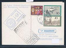 97215) LH So-LP 40 J.... Stuttgart-Sao Paulo 3.2.74, markets SHIP POST TH. Heuss
