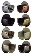 Metal 28mm Curtain Pole Recess Wall Bracket Black Chrome Brass Satin Chrome