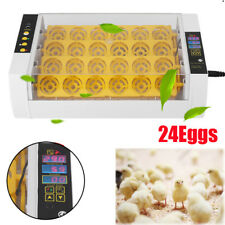New listing Automatic Digital 24 Eggs Incubators Quail Chicken Duck Goose Hatcher Turner Us