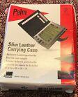 3Com Palm Slim Leather Carrying Case for Palm V Series PDA Retail Box #10405U