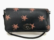 COACH Star C Mini Ruby Purse Bag Wristlet F35889 Dark Brown