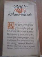 Société des amis d'Ammerschwihr/ Buts de la Société-Conditions d'Admission
