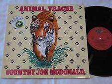 Country Joe McDonald Animal Tracks LP Rag BABY REC. 1983