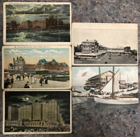 Lot Of Five Early Atlantic City Postcards