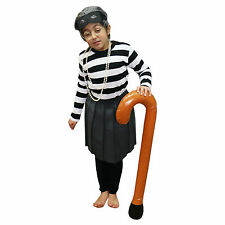 Adult / Kids Granny / Grandma Fancy Dress Gangster Costume Set (WORLD BOOK DAY)