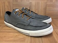 VTG🔥 Converse Chuck Taylor All Star Classic Boot Low Gray Leather Sz 10 Moc Toe