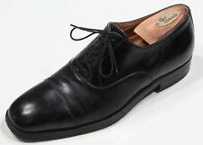 Sutor Mantellassi Nero pelle Captoe Artigianale Scarpe Eleganti Us 7