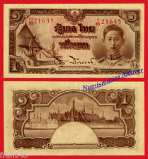 TAILANDIA THAILAND 1 Baht  1942 1944 SIGN 20 Pick 44c    SC / UNC