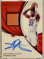DEANDRE AYTON 2018-19 Panini Immaculate RPA Red Rookie Jersey Auto /25 🔥HOT RC