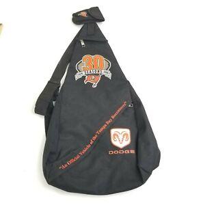 Tampa Bay Buccaneers Dodge 30 Seasons 1976 2005 Black Sling Backpack Travel NFL