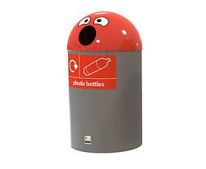 Buddy Recycling Bin 84 Litres Red Plastic Bottles RBD095