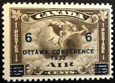 """CANADA AIR MAIL STAMP SC #C04 """"World War II-Dark Days Indeed"""" CV=$60.00"""
