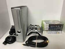 Microsoft Xbox 360 S Halo Reach Limited Edition 500GB Silver Console Bundle Wow!