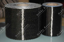 "20yd Toray T700 200gsm Carbon Fiber 12k UNI Directional Cloth Fabric Tap 4"" wide"