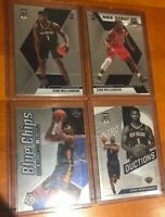 Lot (4) 2019-2020 Mosaic Zion Williamson Rookie RC #209 Debut/ Blue Chips & Into