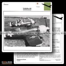 #036.17 IAR 80 & 81 - Fiche Avion Airplane Card