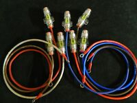 8 GAUGE WIRE 2 FT MINI ANL HOLDER 60 AMP FUSE 5/16 RING TERMINALS POWER AWG