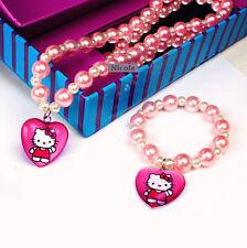 Gorgeous Girls Hello Kitty Children's Jewelry Set Necklace Bracelet 06
