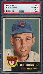 1953 Topps Set Break # 92 Paul Minner PSA 4.5 *OBGcards*
