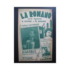 AIMABLE La Romano accordéon partition sheet music score