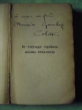 (Autographe) Dédicace de l'écrivaine Colette ( 1873-1954 )