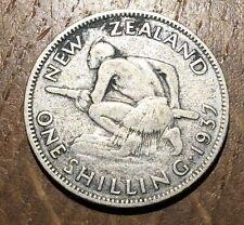 PIECE 1 SHILLING 1937 NEW ZEALAND EN ARGENT (182) 890000 EXEMPLAIRES SEULEMENT