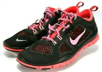 Nike Women's $90 Free 5.0 Tr Fit 4 Running Shoes Size 9 Black Pink