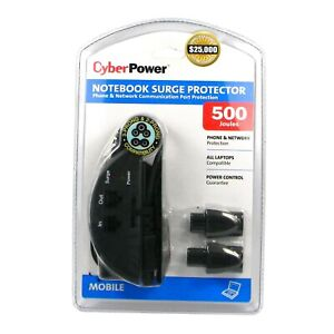 CyberPower CPS500NBP Notebook Laptop Computer Phone/Network Surge Protector