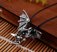 Men's Flying Dragon Sword Titanium Stainless Steel Pendant Necklace Gift WOAU