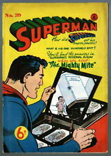 Australian SUPERMAN 39 DC Comics 1950's w Action Comics 158 cover UK