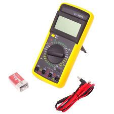Multimetro digitale volt ohm tester misuratore AC/DC+cavi punte test DT-9205A