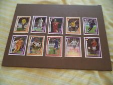 PANINI MCDONALDS EURO 2008    10 PROMOTIONAL  STICKERS