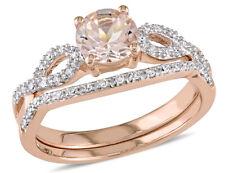 Морганит 4/5 карат (Ctw) с алмазным обручальных колец свадебная кольцо набор