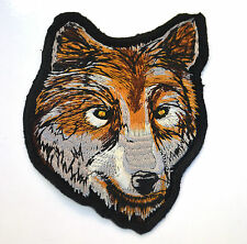 20cm 8' WOLF HEAD WOLVES Embroidered Iron Sew On Cloth Patch Badge  APPLIQUE